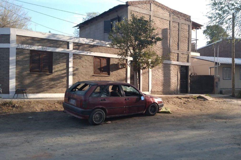 El domicilio donde la joven fue encontrada sin vida. Foto gentileza Redacción Alta Gracia.