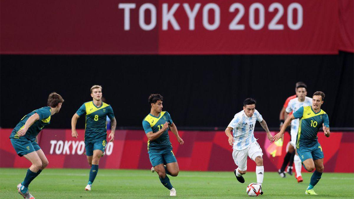 Fútbol: Argentina cayó ante Australia en Tokio 2020