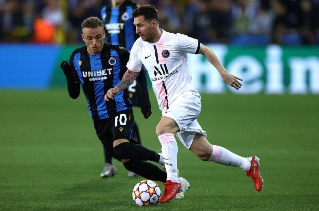 PSG, con Messi desde el comienzo, empató en su visita al Brujas
