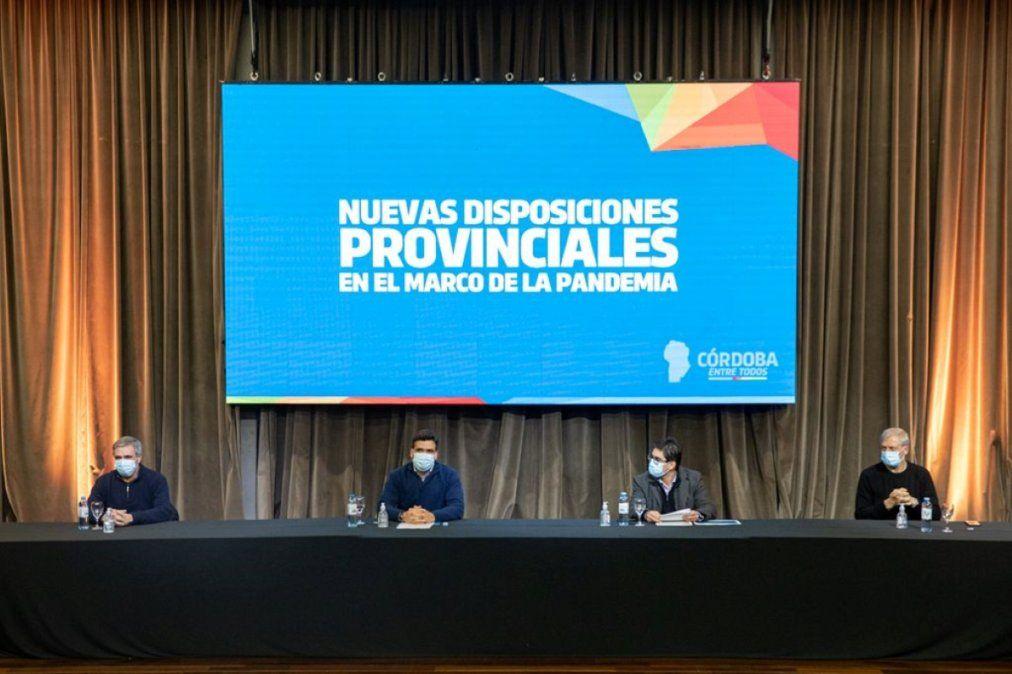 Se anunciaron las nuevas medidas y disposiciones que regirán en la Provincia de Córdoba.