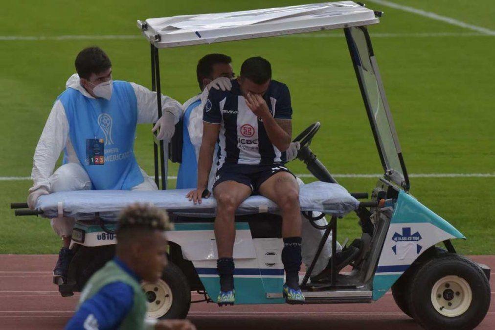 Guilherme Parede es baja en Talleres por una lesión ligamentaria.