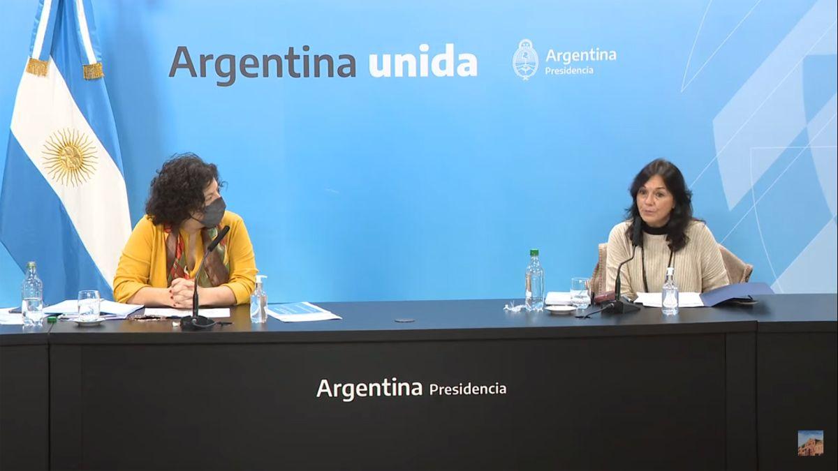 Vilma Ibarra y Carla Vizzotti anunciaron el DNU para cambiar la ley de vacunas.