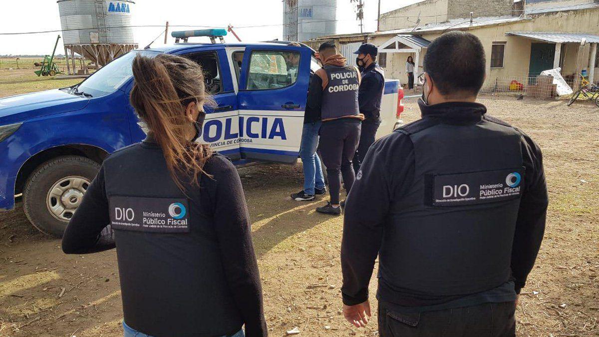 El allanamiento se realizó en la zona rural de Las Perdices.