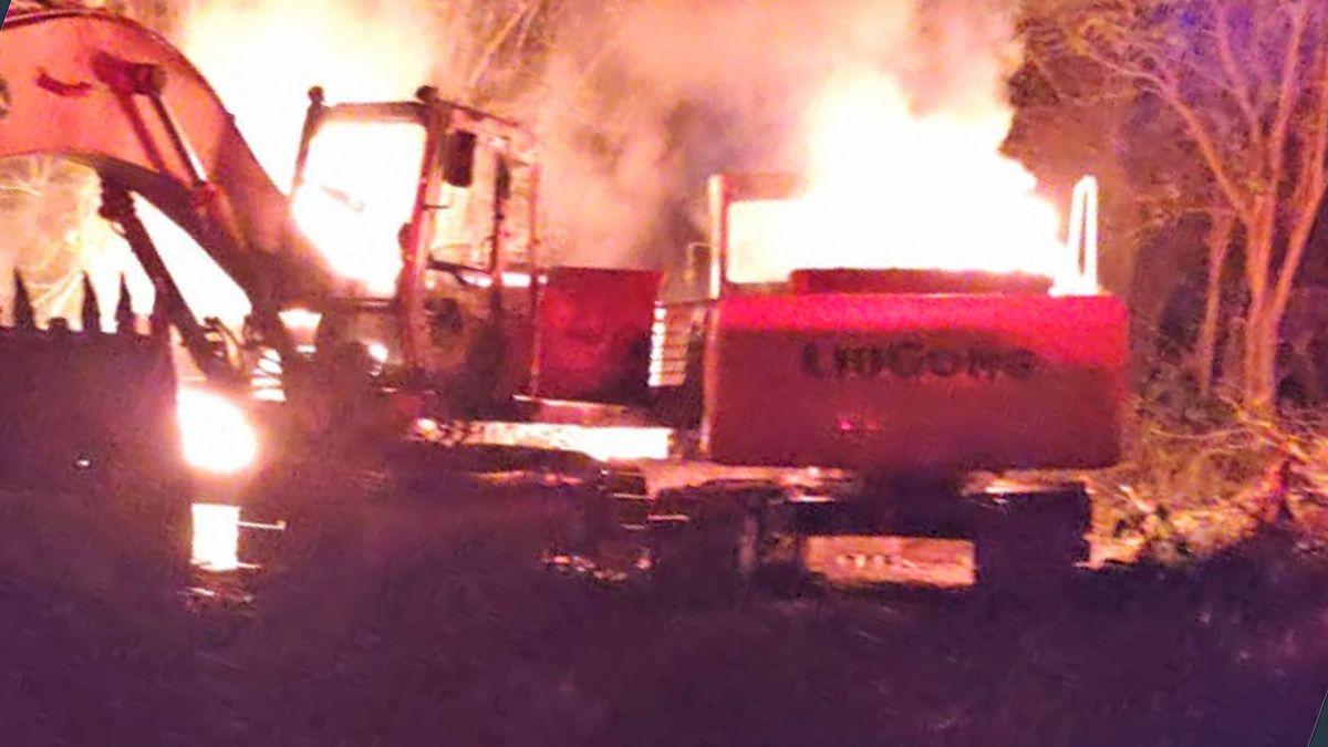 Pérdidas millonarias tras un incendio de maquinarias de una desarrollista local