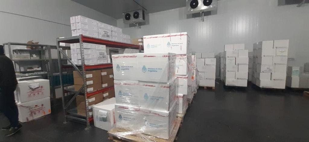Córdoba recibió una partida de 64 mil vacunas Sinopharm.