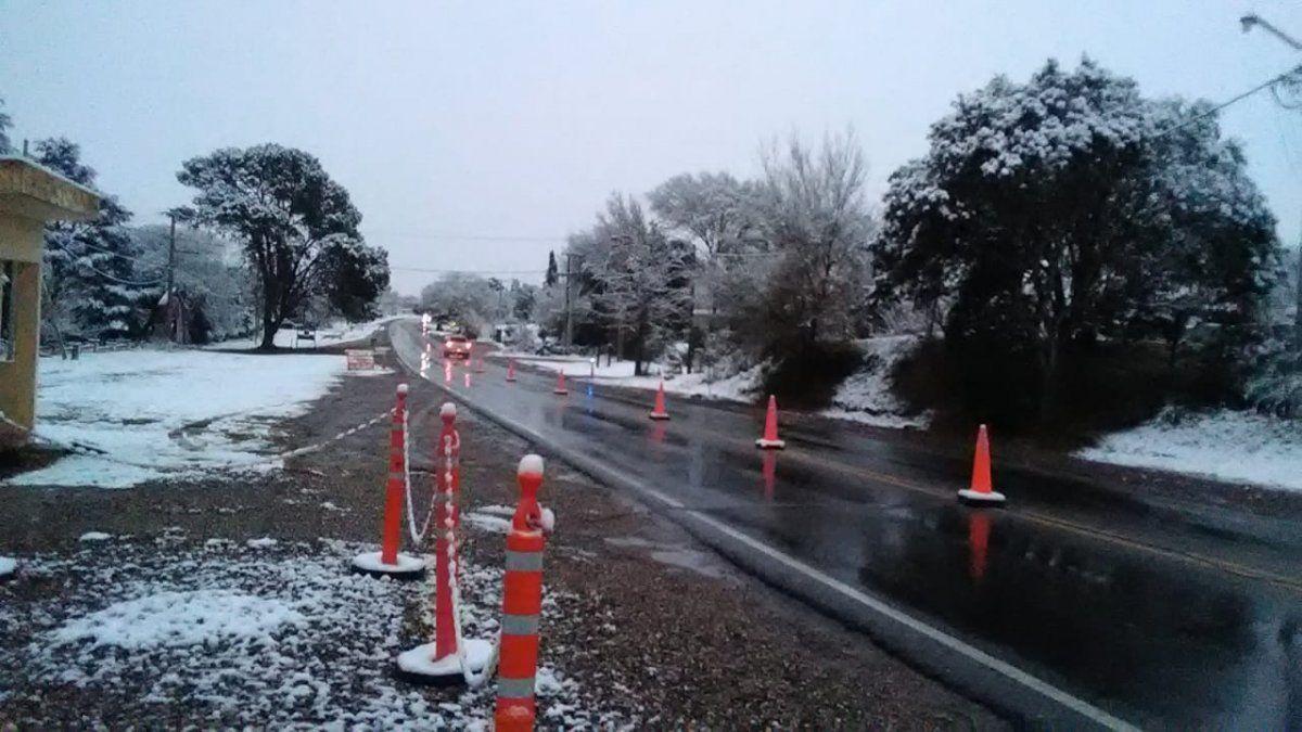 Nieve en las rutas de Córdoba