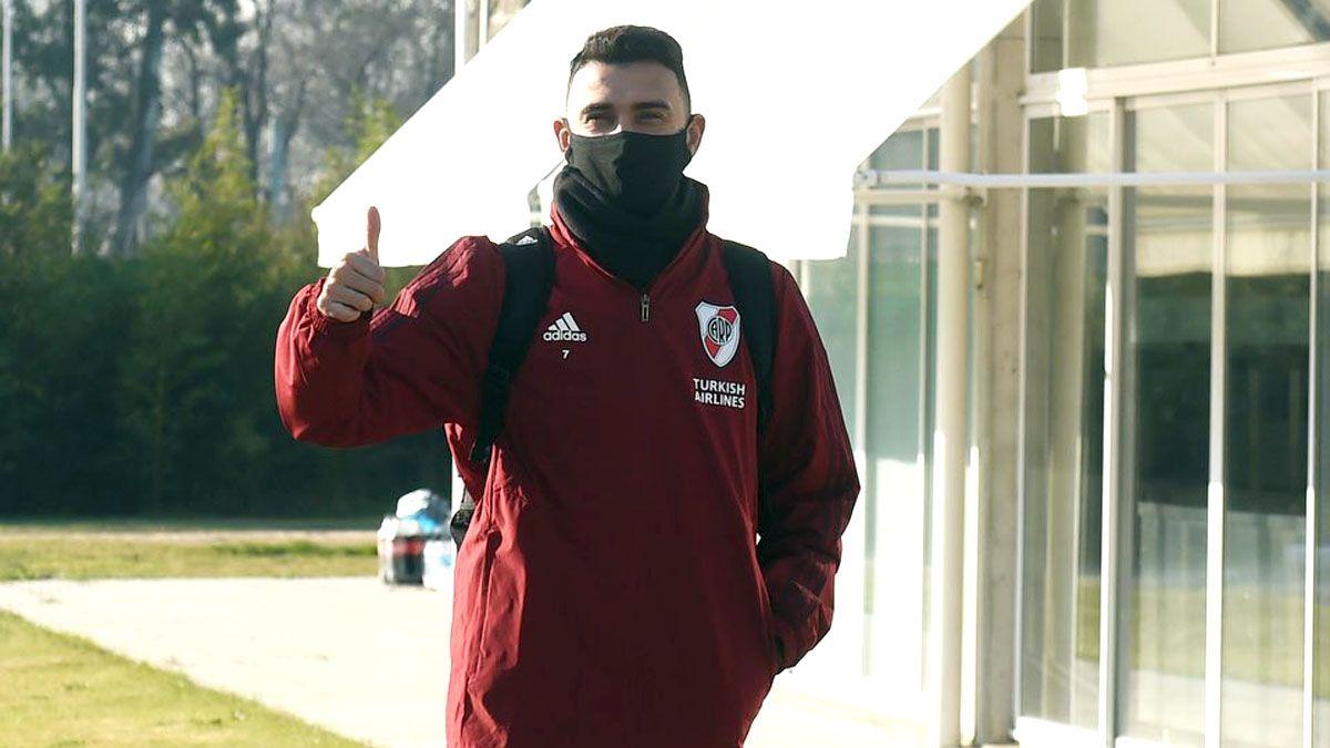 Matías Suárez seguirá con el aislamiento preventivo.