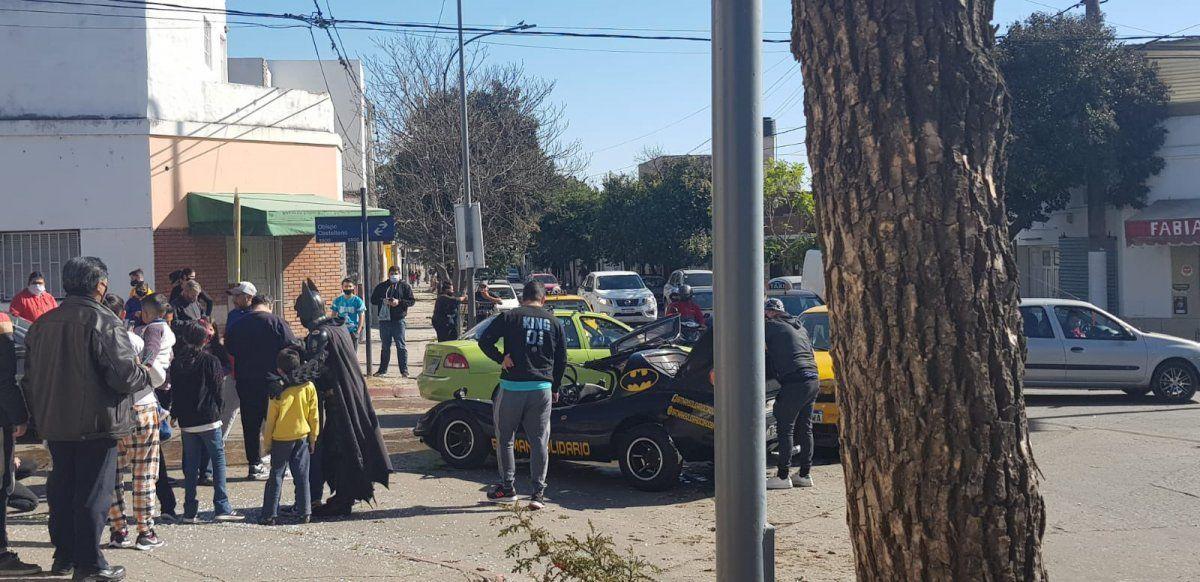 Batman solidario colisionó en San Vicente.