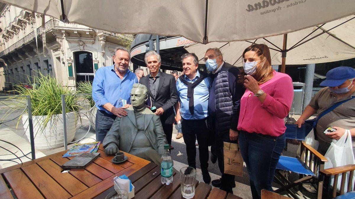Brandoni estuvo en Córdoba para apoyar la lista de Negri y Santos