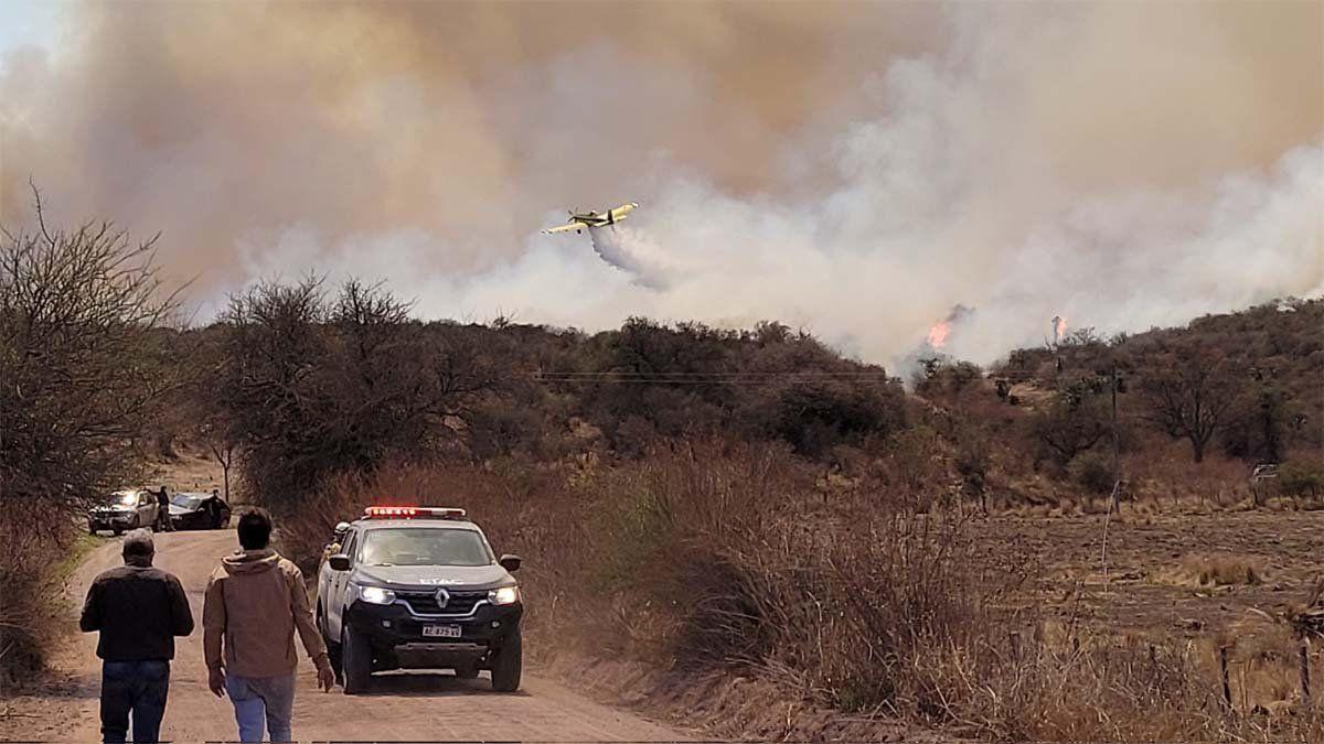 Ya son tres los fallecidos por los incendios en el norte de la provincia de Córdoba.
