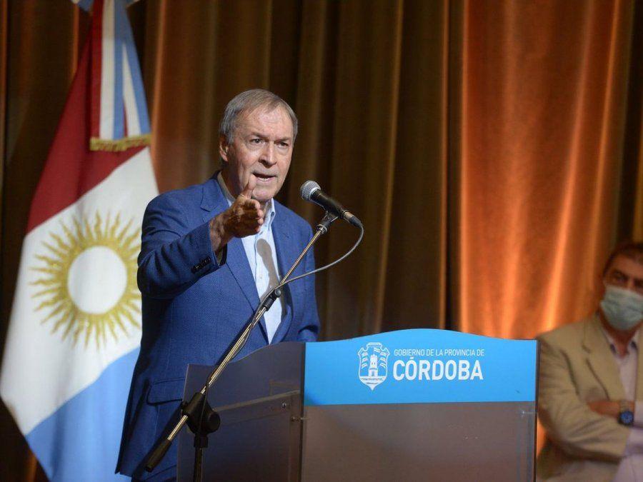 El gobernador Juan Schiaretti aseguró que es tiempo de trabajar mucho y hablar menos.