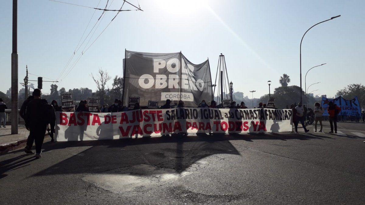 Marchas del Polo Obrero y caos vehicular en Córdoba