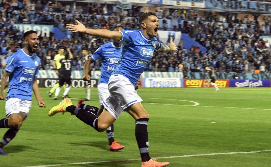 Pablo Vegetti marcó el único gol para el triunfo de Belgrano.