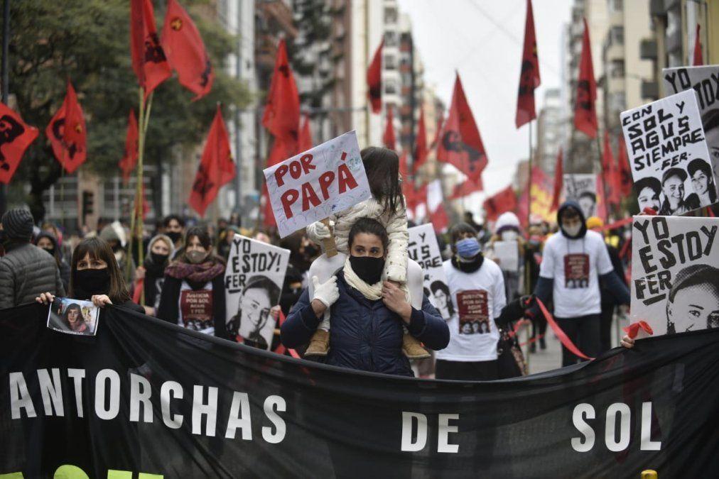 Marchan pidiendo Justicia por las víctimas de circunvalación. Gentileza La Voz.