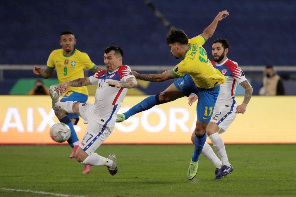 Lucas Paquetá marcó para Brasil al minuto de juego del segundo tiempo.