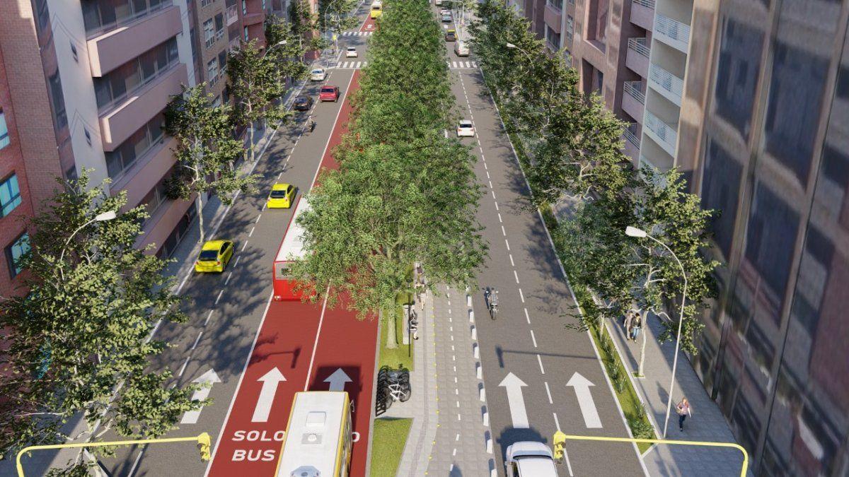 Comenzó la obra para extender el cantero central de avenida Chacabuco