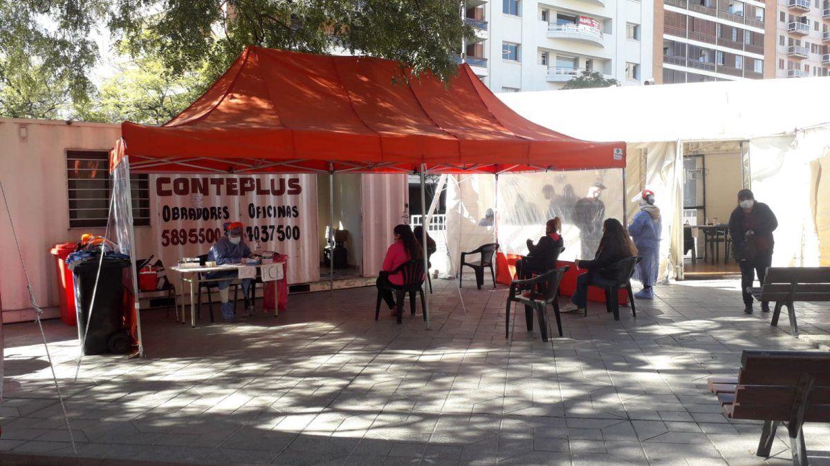 Centro de testeos en ex plaza Vélez Sarsfield.