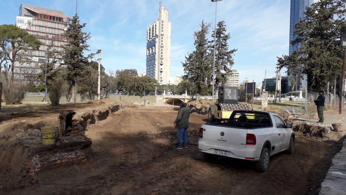 Avanzan las obras de remodelación en el Parque Las Heras